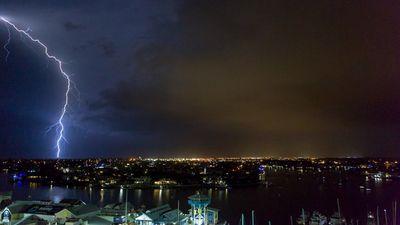 A storm approachesMooloolaba on the Sunshine Coast. (Darren Blair)