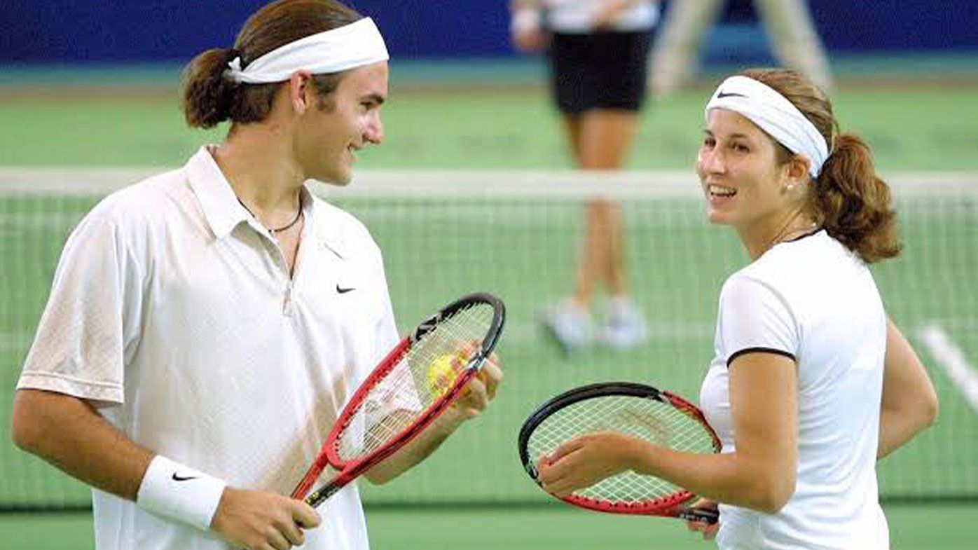 Roger Federer and wife Mirka