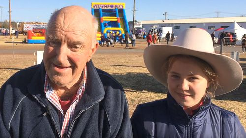 Mr Hall travelled to Dubbo with his granddaughter Lucy for the TODAY drought telethon.