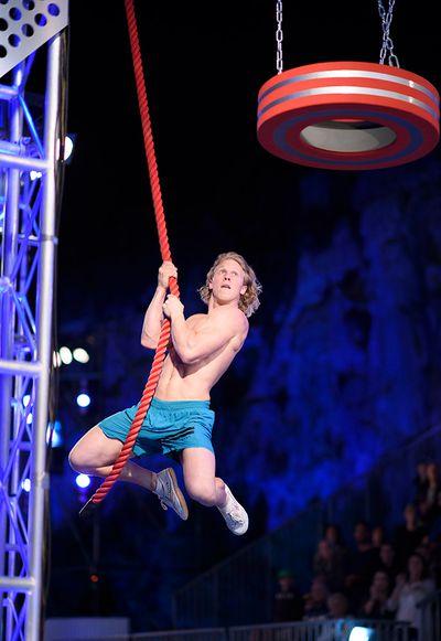 William Laister looking like Tarzan.