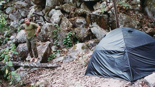 Danny Mackerle during his camping trip to Kalkajaka. (Photo: Danny Mackerle)
