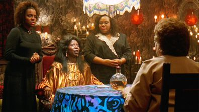 Gail Boggs as Clara Brown, Whoopi Goldberg as Oda Mae Brown and Armelia McQueen as Louise Brown in Ghost