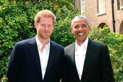 Prince Harry with Barack Obama