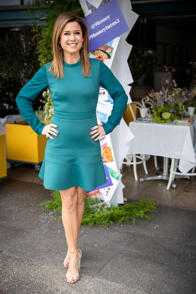 Amber Sherlock at the '9Honey Turns Two' celebration held in Sydney, October 12, 2018.