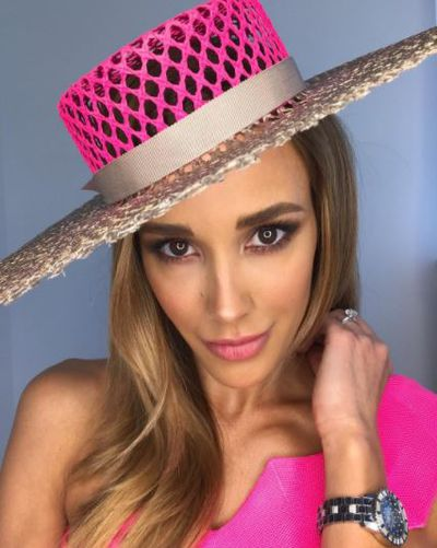 """On Cup Day we wear pink,"" posted Bec Judd, wearing Lolitta."