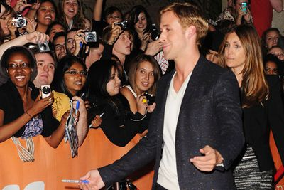 Ryan revs up the ladies at the <i>Drive</i> premiere in Toronto.