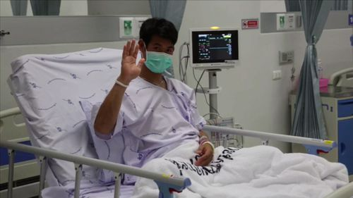 The Thai boys are set to be released from hospital on Thursday. Picture: Supplied.