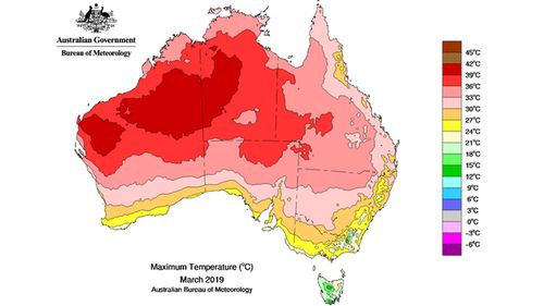 Hottest March on record