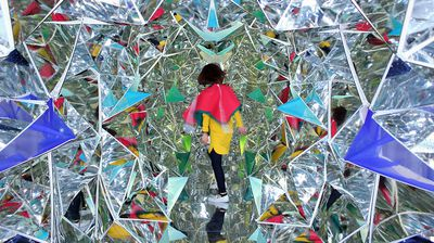 <p>Ever wondered what it would be like to walk through a giant kaleidoscope? </p> <p> </p> <p>Visitors to this year's Vivid Festival in Sydney will be able to find out by walking through a giant light installation painstakingly built with more than 1,100 Perspex origami shapes.</p> <p> </p> <p>Light Origami lets participants interact with the installation - with each movement reflected on the glass panels and the colours they wear incorporated into the pattern.</p> <p> </p> <p>The creation is a collaboration between Japanese artists Masakazu Shirane and Saya Miyazaki, with New Zealand artist Reuben Young, and will be on display at Circular Quay as part of Vivid Festival 2015 from May 22.</p>