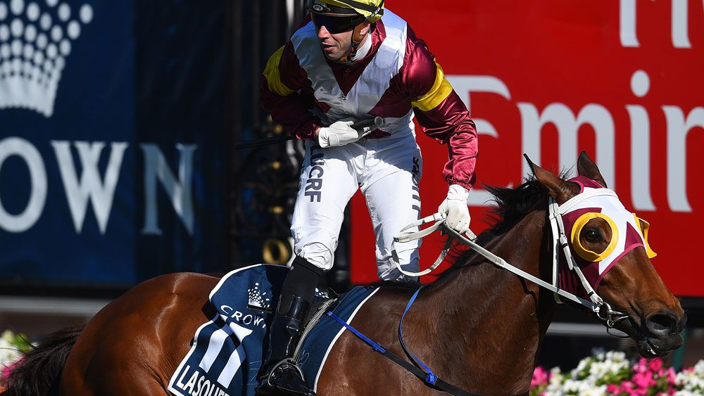 Lasqueti Spirit in Group 1 VRC Oaks shock