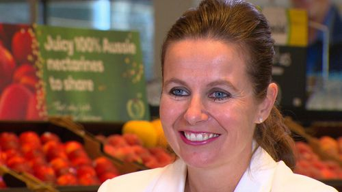 New Woolies boss Claire Peters.