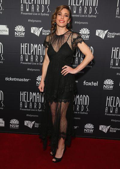 Brooke Satchwellat the Helpmann Awards 2017, Capitol Theatre, Sydney.