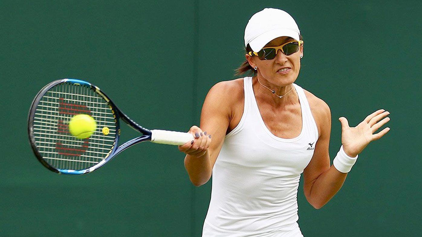 Ariana Rodionova in her opening match at Wimbledon. (Twitter/Tennis Australia)