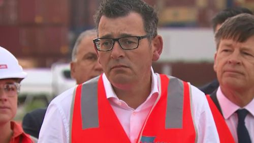 Daniel Andrews spoke about the controversial project today. (9NEWS)