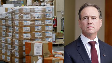 Health Minister Greg Hunt said companies were buying PPE and trying to sell it to the government at inflated prices.