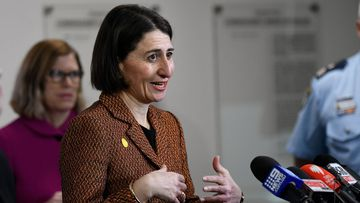 NSW premier Gladys Berejiklian speaking about the latest coronavirus figures in the state on Friday May 8, 2020.