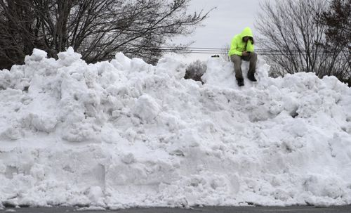 Snow was three metres high in some states.
