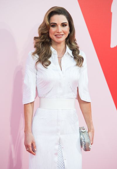 Queen Rania of Jordan at Fashion Relief, Cannes