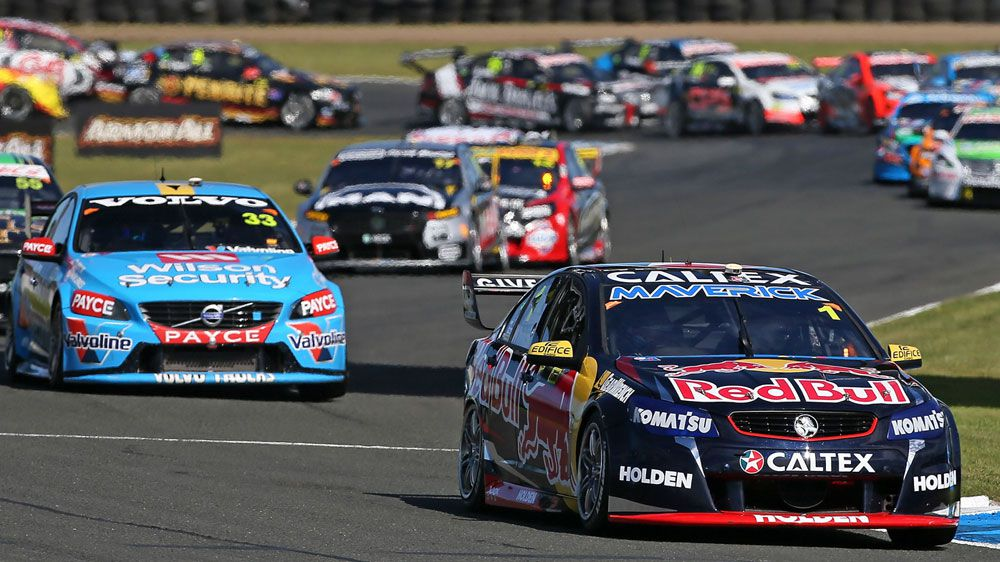 Jamie Whincup leads his V8s rivals. (Getty)