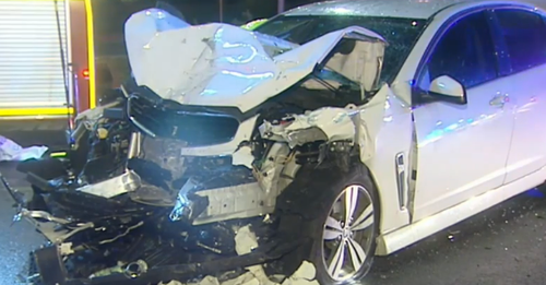 A WA police officer has been suspended from duties after allegedly causing a four car crash near Perth Airport on Friday night.