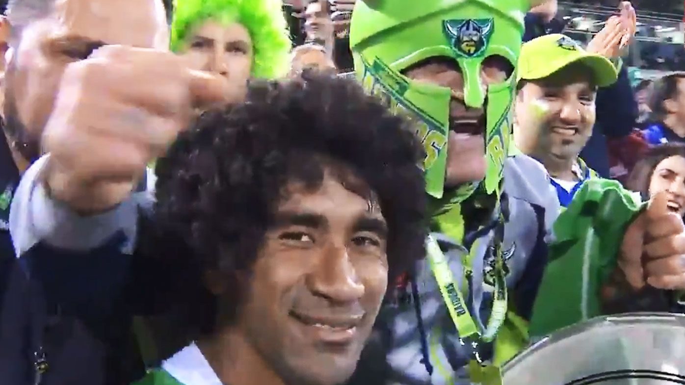 NRL: The 'special' relationship between Raiders star Iosia Soliola and  No. 1 fan Simon Tayoun