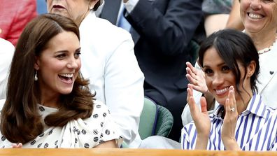 Meghan Markle pictured with Kate Middleton in 2014