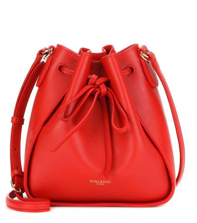"<a href=""http://www.mytheresa.com/en-au/mini-leather-bucket-bag-547780.html"" target=""_blank"">Bag, $1609, Nina Ricci at MyTheresa.com</a>"