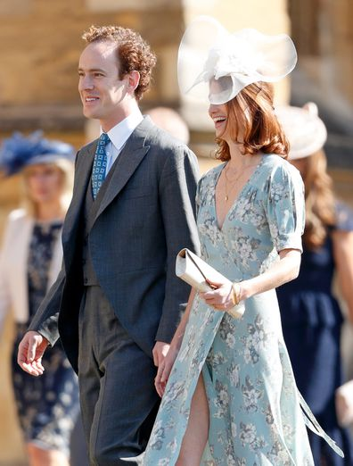 Tom and Lara Inskip attend the wedding of Harry and Meghan at St George's Chapel, Windsor Castle on May 19, 2018.