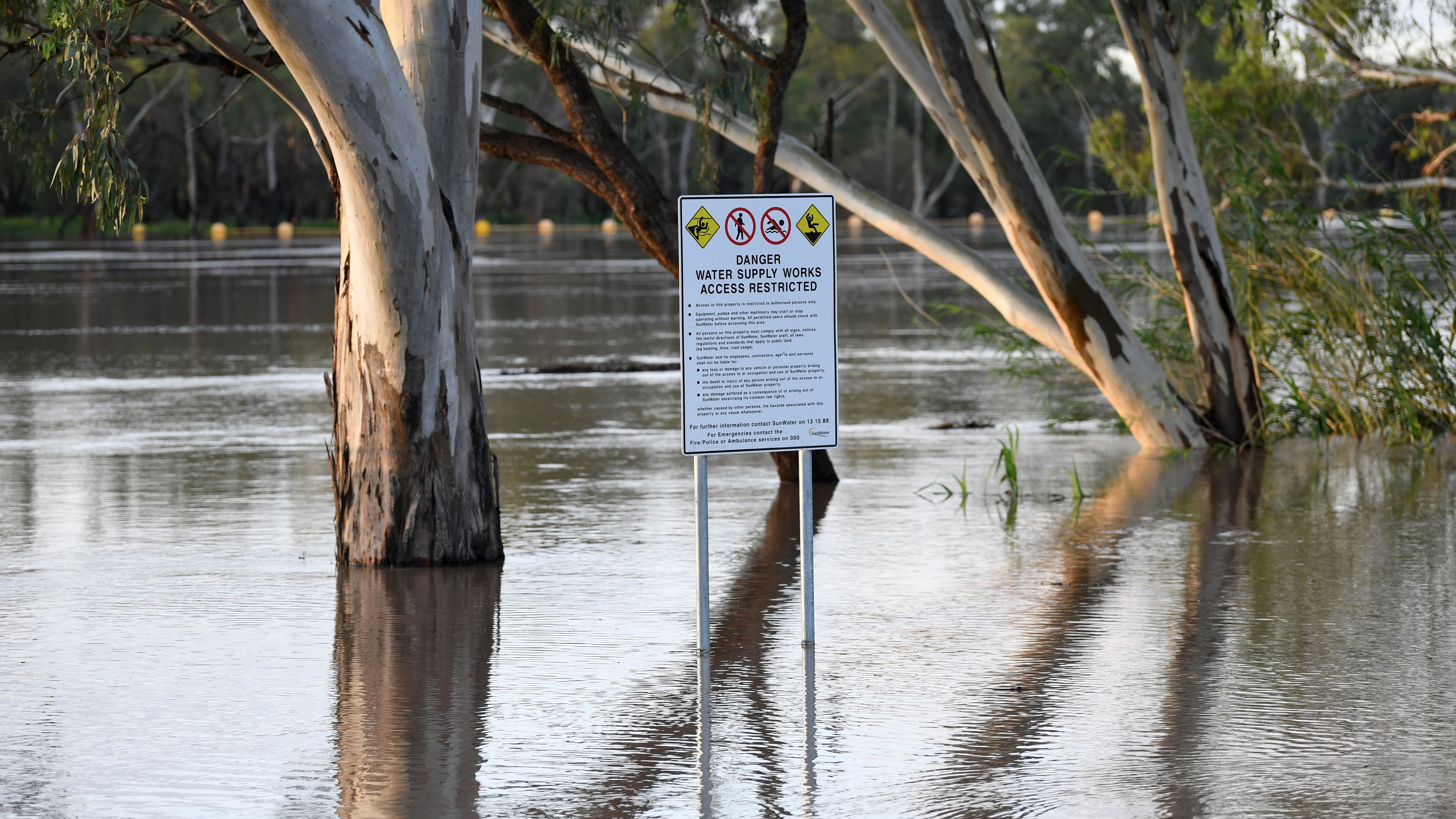 Flood waters pose risk to homes in Queensland after unexpected rainfall
