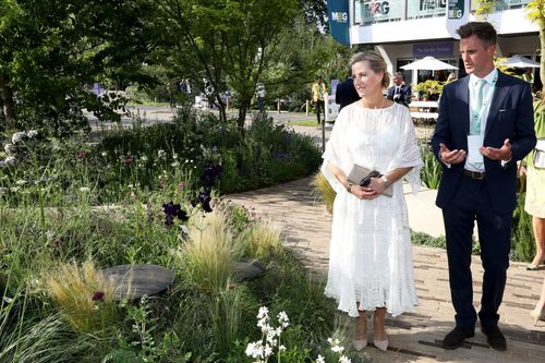Sophie, The Countess of Wessex, looking lovely in white for the annual event (AAP)