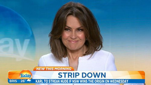 ...and neither was Lisa Wilkinson. (9NEWS)