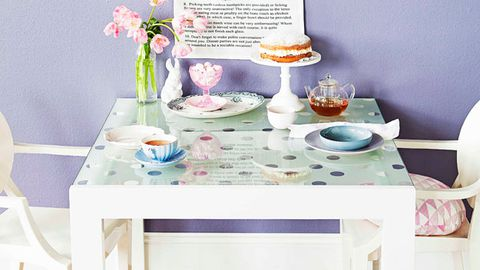 Frosted finish table top