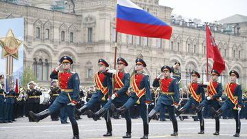 190510 Russia Victoria Parade 74th anniversary WWII end Europe pictures News World