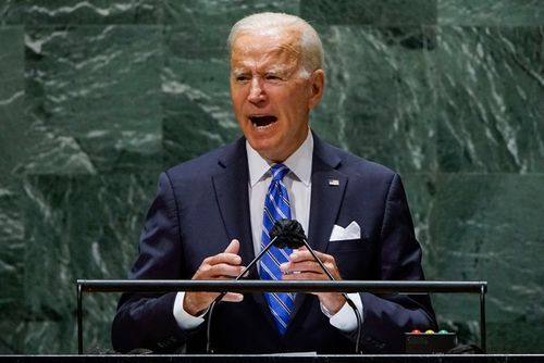 """President Joe Biden detailed his vision for leading the United States into a new era of diplomacy as he sought to reassure allies - some freshly skeptical - he was moving past the """"America First"""" era of foreign policy."""