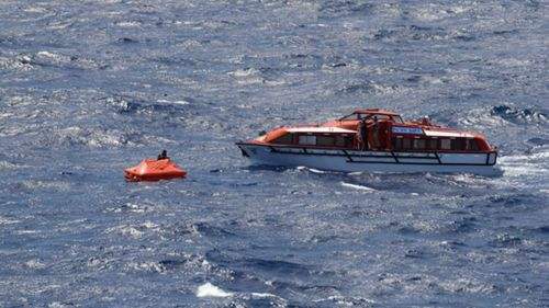 Three sailors were saved by a P&O cruise ship.