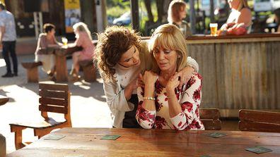 Laura comforts Heather Seachange episode 8 2019.