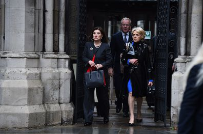 Sir Fredrick court ruling divorce Lady Hiroko Barclay woman leaves court