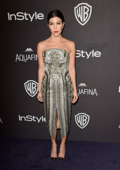 Kourtney Kardashian at the InStyle and Warner Bros. 73rd Golden Globe Awards after-party in Beverly Hills, January, 2016