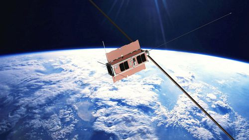 The Buccaneer cube satellite, developed by a team of UNSW Canberra and Defence scientists.