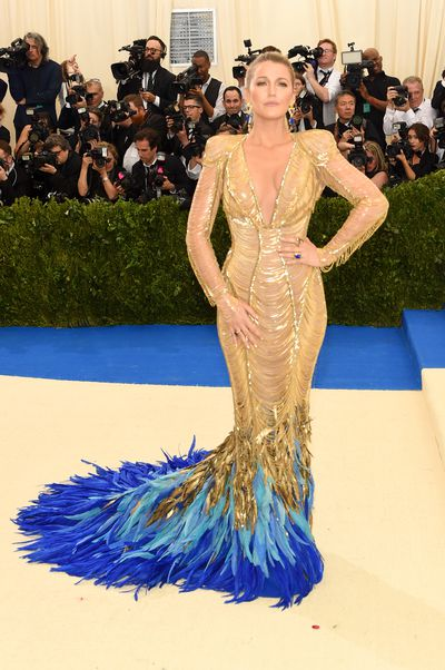 Blake Lively in Atelier Versace at the 2017 Met Gala,Rei Kawakubo/Comme des Garcons: Art Of The In-Between