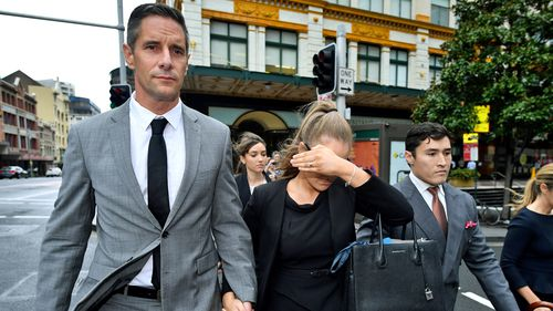 Sarah Rogers is accompanied by her boyfriend, former Australian Border Force boss Roman Quaedvlieg.