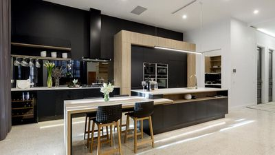 Win: Karlie and Will's black detailed kitchen