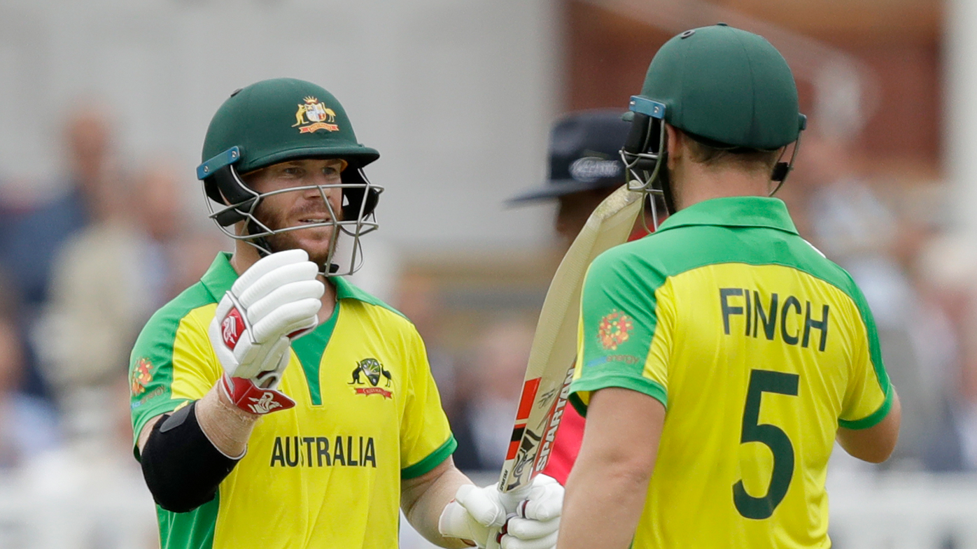 David Warner and Aaron Finch compile century opening partnership against England
