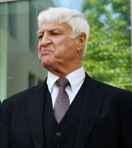 Bob Katter has said he isn't sorry for driving through water in North Queensland during recent flooding because he believes too many roads were unjustifiably closed during the inundation. Picture: AAP