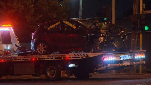 Four vehicles were involved in the crash.