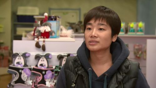 Store manager Brook Chuang pleaded for the puppies' safe return. (9NEWS)