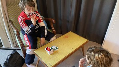 Jane's boys play yet another game of cards