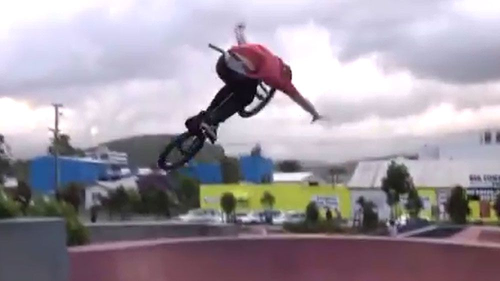 Aussie BMX whiz shows of his amazking skill