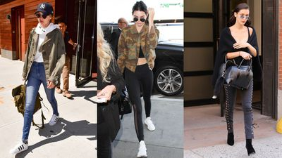 <p>It's a fairly simple fashion formula for the weekend: skinny pants + activewear + sunglasses. </p> <p>But the world's most in-demand models Gigi, Kendall and Bella always find a way to put their own spin on things.<br /> <br /> Click through for a cheat sheet on how to steal their style this Saturday.</p>