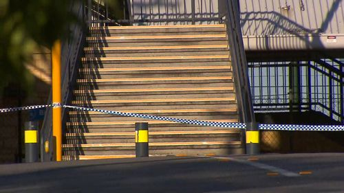 The station was cordoned off as police investigated the man's death.